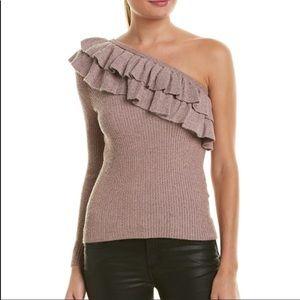 Rebecca Taylor One-Shoulder Wool-Blend Sweater
